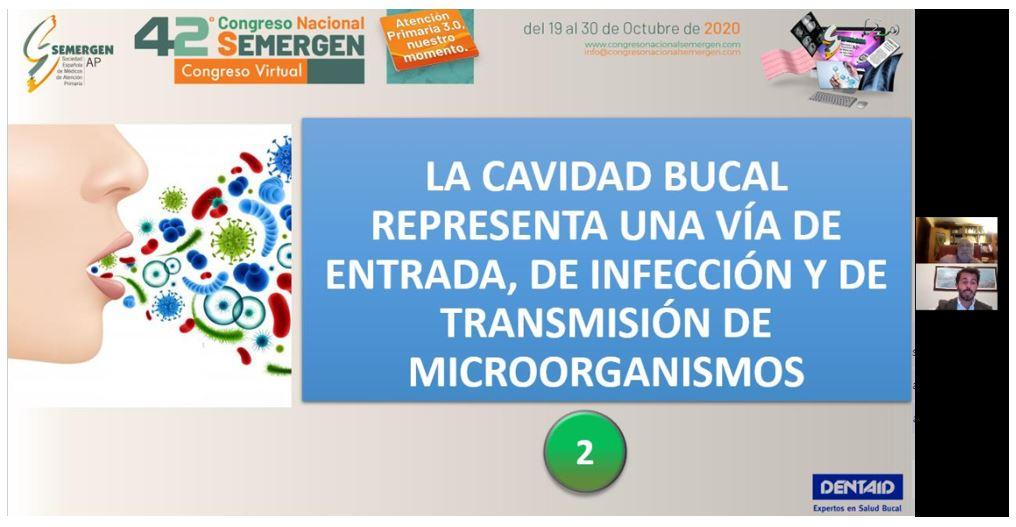 EL 42º CONGRESO NACIONAL SEMERGEN PONE DE MANIFIESTO LA IMPORTANCIA DE LA BOCA COMO FUENTE DE INFECCIÓN Y TRANSMISIÓN DEL SARS-COV2